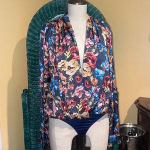 Studio F floral bodysuit